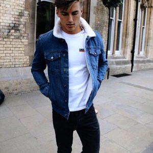 Dark Fur Denim Jacket