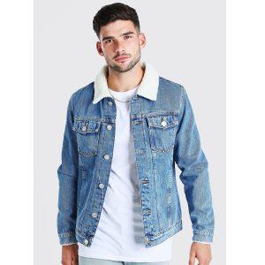 Latin Fur Denim Jacket